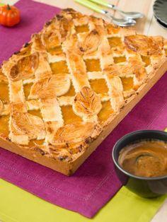 Kruchy placek z marmoladą jabłkowo - dyniową #recipe #panitereska
