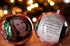 Time capsule ornament - kids Christmas craft I wish I had done this when my kids were younger, especially when they still believed in santa