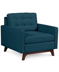 Karlie Fabric Arm Chair: Custom Colors - Furniture - Macy's