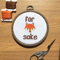 Fox Hoop Art ~ Mature Cross Stitch ~ Humour Funny Gift ~ Finished Cross Stitch ~ Sewing Embroidery Gift ~ Wall Art & Home Decor Gift