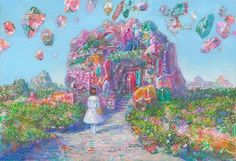 Ghibli background artist Naohisa Inoue's painting technique is out of this world Hayao Miyazaki, Fantasy Landscape, Fantasy Art, Cool Abstract Art, Background Drawing, Japan Art, Character Drawing, Pretty Art, Cute Illustration