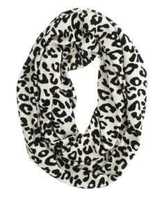 Loving this Ivory Leopard Infinity Scarf on #zulily! #zulilyfinds