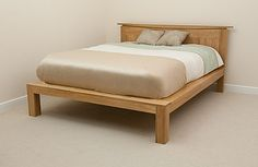Tokyo Solid Oak 6ft Super King-Size Bed