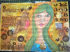 Art journal page by sam scott