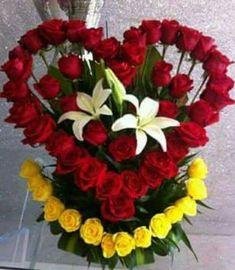 ~ Pin by Erendira Espinoza on flores Valentine Flower Arrangements, Orchid Flower Arrangements, Church Flower Arrangements, Valentines Flowers, Beautiful Flower Arrangements, Flower Box Gift, Flower Boxes, Memorial Flowers, Beautiful Rose Flowers