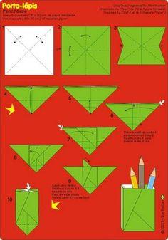 No rastro da memória (Santa Rita do Sapucaí): A arte do Origami - Porta-lápis