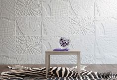 Papier peint blanc relief - Dassonville