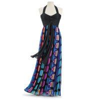 Windowpane Maxi Dress