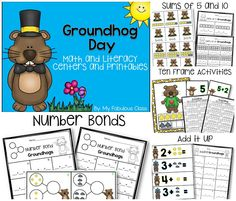 Groundhog's Day Math and Literacy Centers and Printables