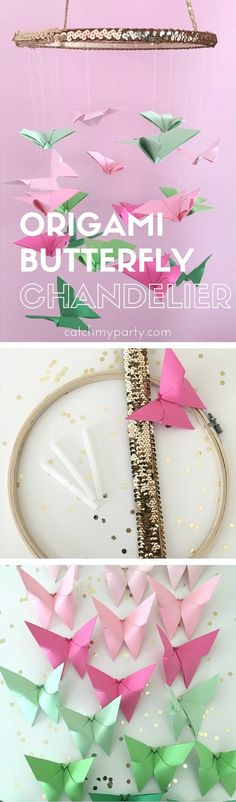 Origami Butterfly Chandelier | CatchMyParty.com