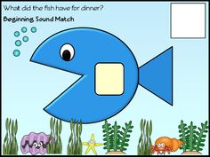 Under The Sea-Sea Life- Literacy Centers- Match the letter to the picture card in the fish's stomach- A part of a 240 page large theme pack for under the sea containing math, literacy, measurement and printables. http://www.teacherspayteachers.com/Product/Under-The-Sea-Sea-Life-Literacy-and-Math-Fun-Printables-Games-Activities-1122248