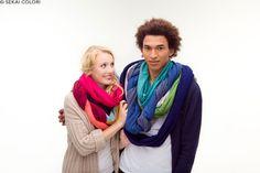Farbenfrohe Loops aus Organic Cotton von Sekai Colori mehr davon auf www.sekai-colori.de