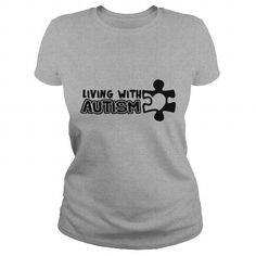 Awesome Tee Living With Autism Childrens Size Kids Premium T Shirt Shirts & Tees