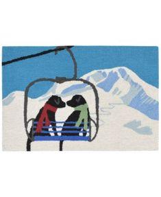 Liora Manne Front Porch Indoor/Outdoor Ski Lift Love Winter 2' x 3' Area Rug | macys.com