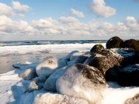 Danish coast line during winter