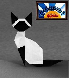 How to Make the Origami Siamese Cat of Makoto Yamaguchi  http://origami-blog.origami-kids.com/how-to-make-origami-siamese-cat-makoto-yamaguchi.htm  Folder and Photo: Origami-Kids