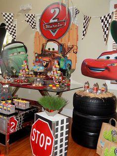 Disney Pixar Car Theme Birthday Party Birthday Party Ideas   Photo 6 of 43   Catch My Party