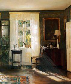 Carl Vilhelm Holsøe (1863-1935) — Sunlit Reading Room (1024×1205)