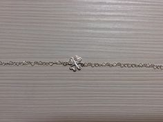 Lovely silver bracelet with Swarovski elements.
