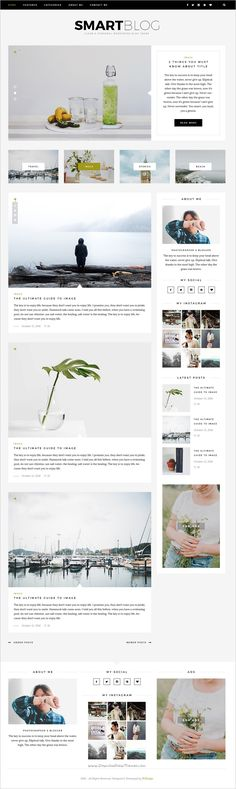 SmartBlog is a clean & modern #Photoshop #template for creative #blog with 7 homepage layouts download now➩ https://themeforest.net/item/smartblog-psd/18576417?ref=Datasata