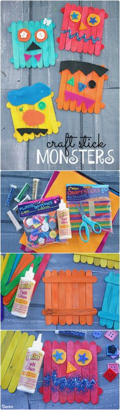 These DIY monster crafts are not to be feared but instead are fun for all ages…
