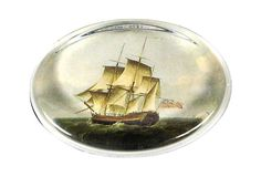 ATLANTIC ACCENTS  Oval Crystal Paperweight, Ship  VICTORIA FISCHETTI DESIGNS      $80.00 Retail. $39.00