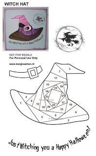 Irisvouwen: Halloween: Witch hat