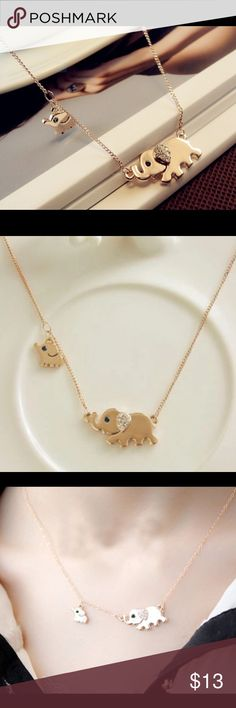 Boho mommy and baby elephant necklace gold Brand new in original packaging . All items priced 13 and under is 3 for $25. Let me know and I'll create a listing Jewelry Necklaces