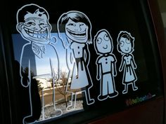 troll parents w/ derp kids Car Memes, Tears Of Joy, Cheer Up, Derp, Car Stickers, Funny Signs, Funny Photos, Troll, Make Me Smile