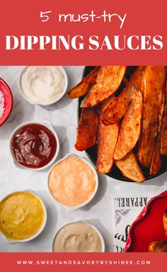 Get your favorite finger foods ready and let's get dipping with these incredible dipping sauces! #howtomakedippingsauces #dippingsaucerecipe #dippingsauceforfries Vegetarian Recipes Easy, Healthy Recipes, Large Family Meals, Honey Mustard Sauce, Egg Recipes For Breakfast, Appetizer Recipes, Dessert Recipes, Sauce Recipes, Arabic Dessert