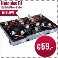 Met de Hercules Dj control mp3 kun je geheel aan de weg timmeren naar een professionele toekomst. @ www.jzsound.nl