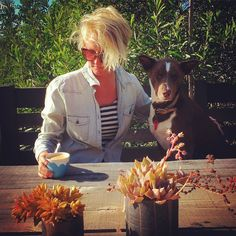 #coffee on our deck in #janjuc with my beau #Captain the #kelpie  such a gorgeous morning here #ilovethesurfcoast #surfcoast #Torquay #beachlife #sundaymorning by rowenamartinich http://ift.tt/1X8VXis