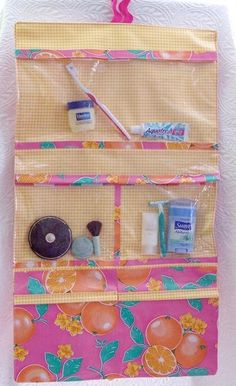 GoGo Bag - folding toiletries travel bag roll up sewing pattern $10.00