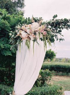 wedding arbor floral design from Toulon, France Wedding Blog, Destination Wedding, Wedding Day, Wedding Isles, Decor Wedding, Dream Wedding, Wedding Decorations, Floral Wedding, Wedding Bouquets