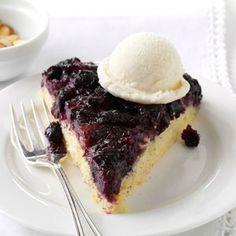 Blueberry Upside-Down Skillet Cake