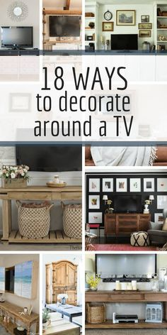 18 Stunning Ways to Decorate Around a TV is part of Stunning Ways To Decorate Around A Tv Twelve On Main - Why not create a beautiful space that you will want to look at even when the TV is off! Check out these amazing ways to decorate around a TV! Rugs In Living Room, Living Room Decor, Tv Wall Ideas Living Room, Cozy Living, Decorating A Large Wall In Living Room, Living Room Wallpaper Accent Wall, Bedroom Tv Wall, Room Rugs, Home Renovation