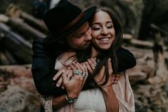 This Eclectic Wahclella Falls Wedding Blends Natural and Urban Elements