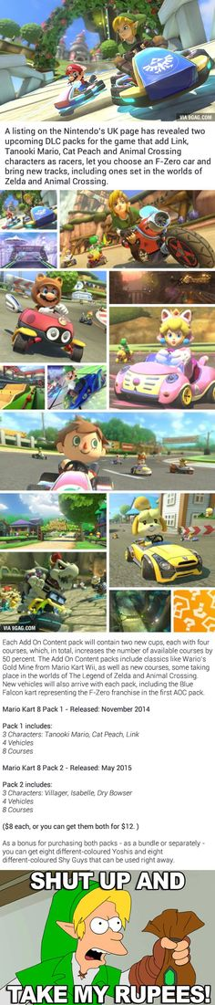 Zelda, Animal Crossing Coming To Mario Kart 8