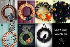 Craft, Interrupted: Things to Try - 31 Fabulous Halloween Wreaths!
