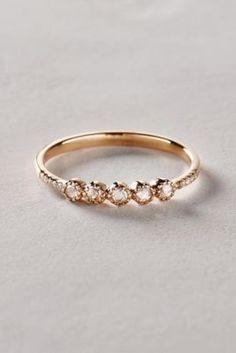 Rose cut Diamond Ring in 14k Gold by Liven Co. I love rose-cut diamonds!
