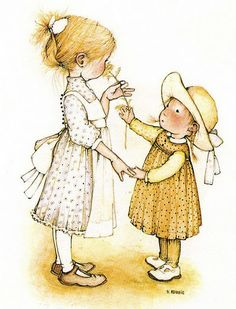 Heather's Characteristics: Usually seen in a off-white pinafore with beige flowery dress.