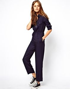 Cute cuz you'd look like a cute inmate in this... ASOS Jumpsuit with Utility Detailing