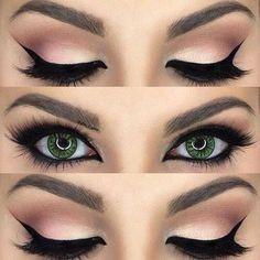 """""""Mi piace"""": 6, commenti: 1 - deny.v (@deny.v3744) su Instagram: """"#eyes#makeup#ombretto#pink#eyeliner#greeneyes"""""""