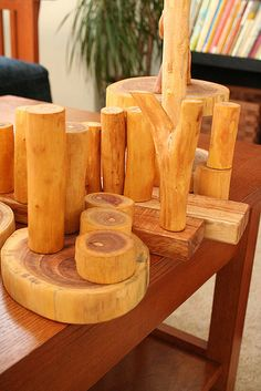 Creating with Tree Blocks soft toys Cactus Toy Wooden Toy Toy Plants Waldorf Toy Home decor Garden decor Table decoration by WoodenfulT. Block Area, Block Center, Reggio Inspired Classrooms, Ideas Habitaciones, Block Play, Waldorf Toys, Baby Kind, Wooden Blocks, Nature Crafts