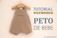 DIY Tutoriales de ropa de bebe: PETO | Oh, Mother Mine DIY!! | Bloglovin'