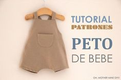 DIY Tutoriales de ropa de bebe: PETO | Oh, Mother Mine DIY!! | Bloglovin'