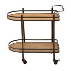 LOVE! Sorta like a surfboard! Casa Cortes ecWorld Contemporary Mobile Tea, Serving and Kitchen Bar Cart