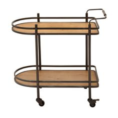 LOVE! Sorta like a surfboard! Casa Cortes ecWorld Contemporary Mobile Tea, Serving and Kitchen Bar Cart