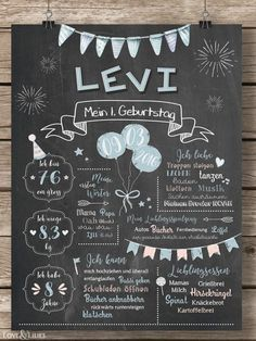 Cute chalkboard for the birthday for girls - MIA - Baby Diy Birthday Table, Birthday Board, 1st Birthday Girls, Diy Birthday, Birthday Parties, Blue Birthday, Happy Birthday, 1st Birthday Chalkboard, Chalkboard Baby