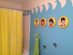 "Kids ""Yellow Submarine"" bathroom #Beatles #decor"